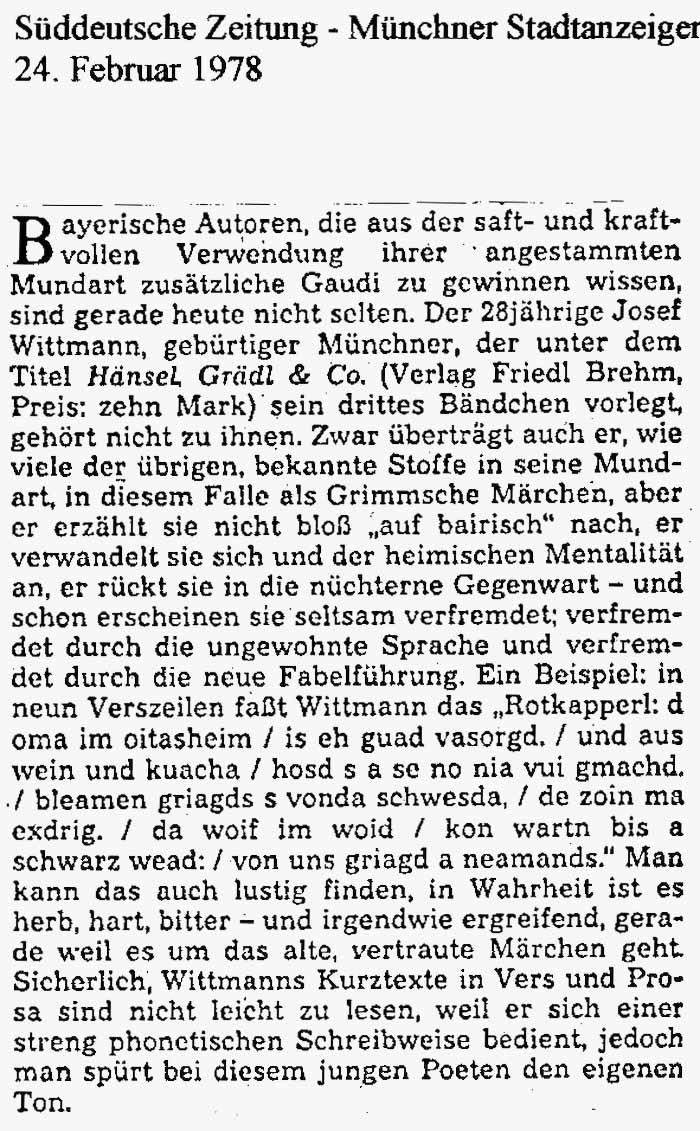 Pressemeldung Süddeutsche Zeitung